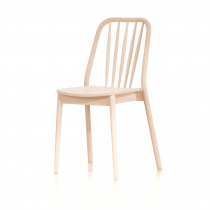 Aldgate stacking side chair veneer seat raw