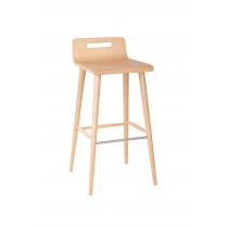 Lexi bar stool veneer shell raw