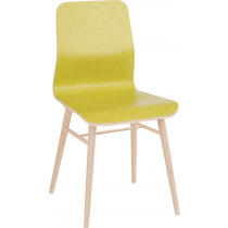 Lexi side chair veneer shell raw