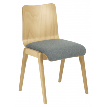 Ladbroke stacking side chair veneer shell raw