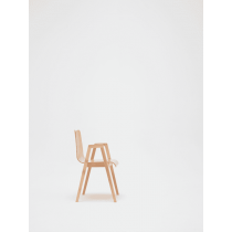 Ladbroke stacking armchair veneer shell raw