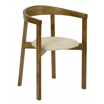 Turnham stacking armchair RFU seat raw