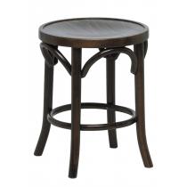 Bentwood low stool veneer seat