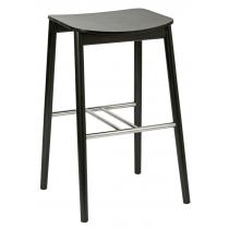 Pinner high stool veneer seat raw