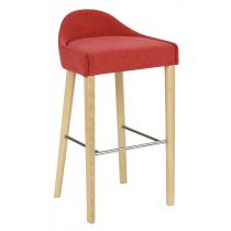 Lambeth bar stool seat & back raw