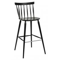 Helena bar stool veneer seat raw
