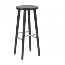 Kew high stool solid seat raw
