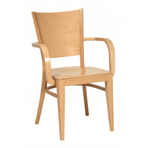 Richmond stacking armchair veneer seat & back raw