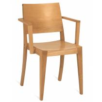 Reuben stacking armchair veneer seat and back raw