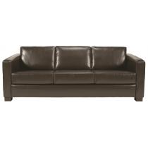 Chorus three seater sofa UPH faux leather dark brown