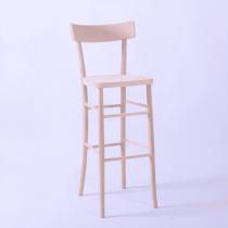 Mylon bar stool veneer seat & back raw