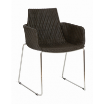 MESSINA AW ARMCHAIR CAPPUCCINO REEDED