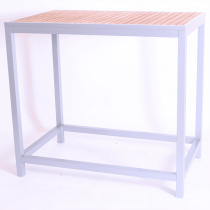 BREW BAR TABLE RECT TEAK SIL 1200X750mm