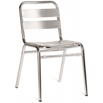 CATALINA STK SIDE CHAIR ALUMINIUM SLATS