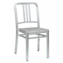 MEZZI ALU SIDE CHAIR BRUSHED