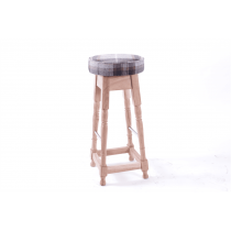 Dublin high stool frame only acacia raw copper