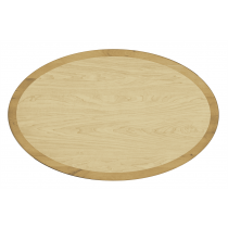 LAMINATE MAPLE OVAL TOP