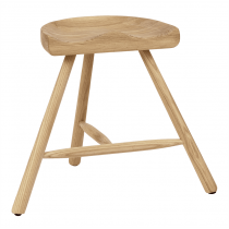 Cobblers low stool solid seat raw