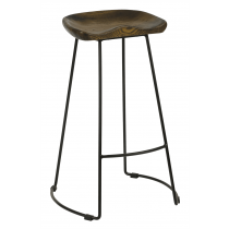 Veuve high stool solid seat  antique black