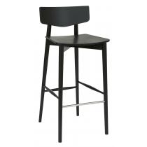 Tori bar stool veneer seat & back raw