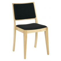 Reuben thin frame stacking side chair RFU seat and back raw