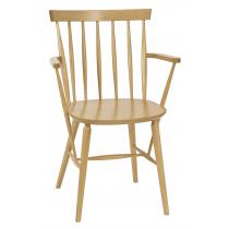 Helena armchair chair veneer seat raw