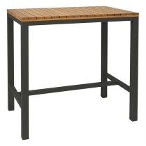 Pier bar table rectangular oiled anthracite 1200 x 750mm
