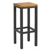 Pier high stool oiled anthracite