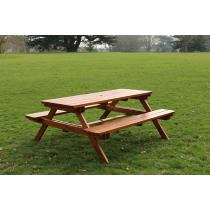 Yogi large picnic table pine raw