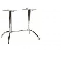 Lunar twin 4 leg table base polished dining height finish