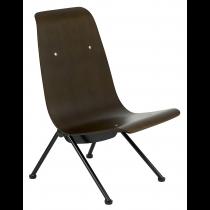 Avion side chair walnut seat