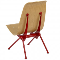 Avion side chair natural seat red