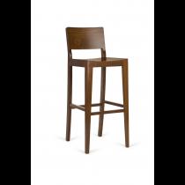 Barbican bar stool veneer seat & back raw