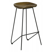 BOLLI HIGH STOOL SOLID SEAT FINISHED