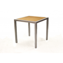 BREW TABLE SQ TEAK 750mm