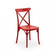 CAPRI STACKING SIDE CHAIR RED