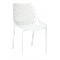 MATILDA STK SIDE CHAIR WHITE