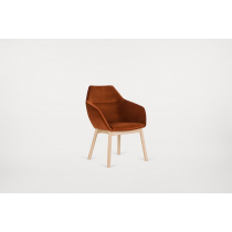 PENTAGON LOUNGE CHAIR RFU SHELL RAW