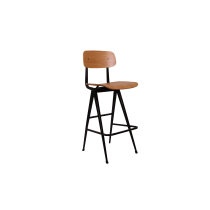 VENTURI BAR STOOL VENEER SEAT NAT BLACK