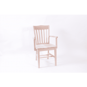 Rochester armchair solid seat raw