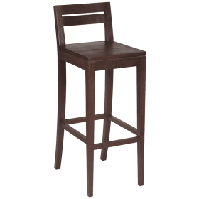 Dingle bar stool solid seat raw