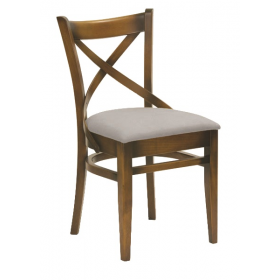 Geneva side chair veneer seat raw