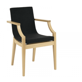 Arc armchair RFU shell beech frame raw