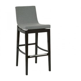 Arc bar stool RFU shell solid beech frame