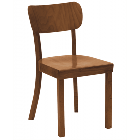 Paris side chair veneer seat raw