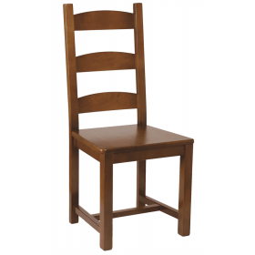 Wicklow side chair solid seat raw