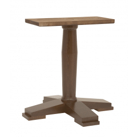 ASCOT LG 4 LEG BASE SOLID BEECH RAW DIN