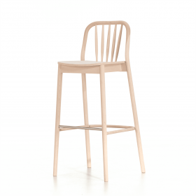 Aldgate bar stool veneer seat raw