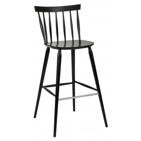 Helena bar stool veneer seat raw