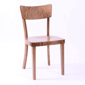 Metz side chair veneer seat & back raw